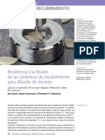 Resistenica a la flexion de las ceramicas de recubrimiento para dioxido de zirconio