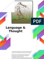 Lecture 9 - Language and Thought