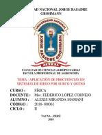 APLICACIÓN DE FRECUENCIAS EN SISTEMAS DE RIEGO POR SURCO Y GOTEO