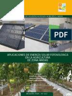 APLICACIONES DE ENERGÍA SOLAR FOTOVOLTAICA EN LA AGRICULTURA DE ZONA ÁRIDAS