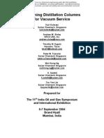 DesigningVacuumtower(VDU)