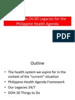 Nutrition in DU30 Legacies for the Philippine Health Agenda
