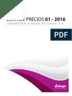 Lista de Precio 1 2016 1