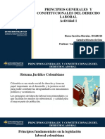 Actividad 1 Presentacion Principios Generales y Constitucionales Del Derecho Laboral