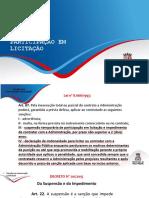 Sanção Por Inexecução Contratual e Vedação à Participação Em Licitação