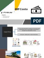 Formulas de costos y precio