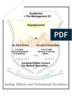 Guideline, Management of Hypoglycemia