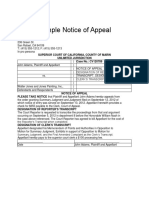 Sample Notice of Appeal