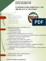 Ppt Final - Cambios en La Producción Agrícola - COMUNIDAD CAMPESINA DE CÁTAC - HUARAZ Ancash - PERÚ