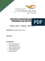 Informe Final Scrum-web de Pedido y Venta