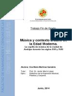 Música y contexto en la edad moderna