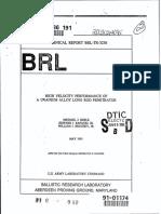 HIGH VELOCITY PERFORMANCE OF A URANIUM ALLOY LONG ROD PENETRATOR.pdf
