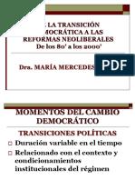 Transiciones democraticas a gobiernos neoliberales