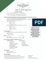 Watts Academy Supply List