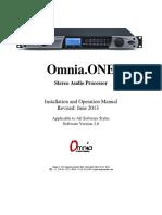 Omnia ONE Manual v2.6