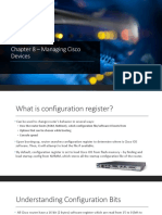 Chapter 8 – Managing Cisco Devices