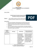 Position Paper regarding Federalism