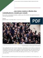 Previdência_ Quem Votou Contra O Direito Dos Trabalhadores, Estado Por Estado _ Brasil de Fato