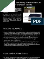 Tecnologías de Operación y Mantenimiento en Asfaltos En