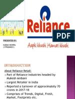 Sip Prsesentaion on Reliance Retail