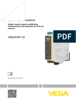 46107 en VEGATOR 121 Single Channel Signal Conditioning Instrument for Level Detection