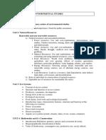 Environmental Studies Curriculum