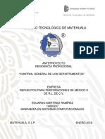 Portada y Estructura de Anteproyecto (anexo I) de Residencia Profesional EJ2019.docx
