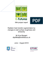 Radiator heat transfer augmentation by changes to wall surface roughness and emissivity