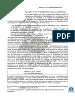 Acta Autorizacion Notificacion Electronica Doña Juana