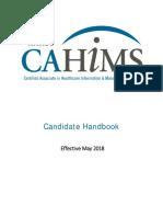 Cahims Handbook 2018 Final