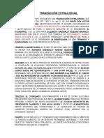 Transacción Extrajudicial- Señor Victor Ruidias
