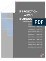 It Project on Wipro Technologies