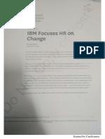 IBM Focuses HR on Changes