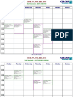 Faculty Timetable 27th Aug. Onwards