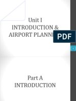 Unit I Introduction & Airport Planning