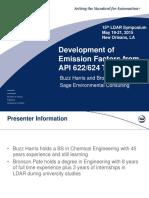 Development of Emission Factors from API 622_624 Test Data - Buzz Harris_Bronson Pate (1).pptx