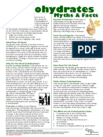 Eating Disorders Information Sheet - 06 - Carbohydrates Myths and Facts