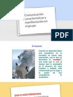Sesion 7 - Comunicacion Caracteristicas y Manifestación en El Grupo