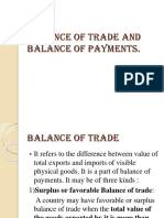 Balance of Trade and Balance of Payments