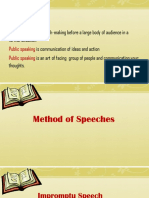 Kinds of Speeches