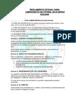 Reglamento de campeonato 2019 del DEPEC SICUANI