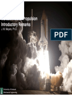 Rocket propulsion Introduction