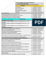Calendar of Events 19 20