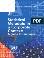Common Metadata Framework. Part A.  Statistical Metadata in a Corporate Context