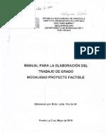 Manual de Elaboracion de Trabajo de Grado