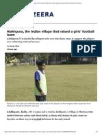 Alakhpura, The Indian Village That Raised a Girls' Football Team _ Football _ Al Jazeera