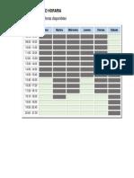 cuadro de horario