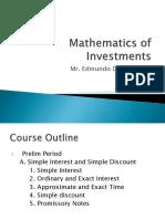 Mathematics of Investments