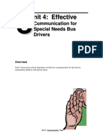 Effective Communication for Special Needs Bus Drivers