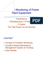 Condition Monitoring of Power Plant Equipment